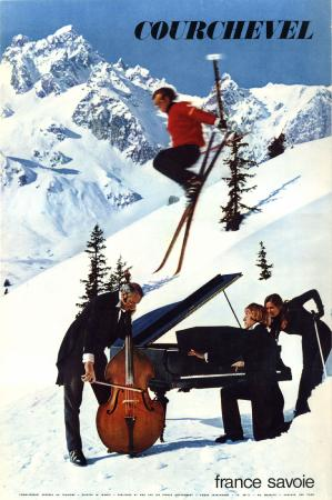 COURCHEVEL FRANCE SAVOIE - affiche originale par Mainetti - 1969