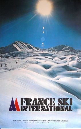 FRANCE SKI INTERNATIONAL (LA PLAGNE) - affiche de Chastel (1979)