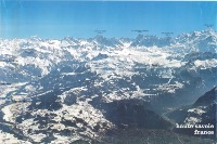 LE GRAND MASSIF HAUTE-SAVOIE FRANCE - affiche panorama (ca 1980)