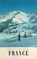 SPORTS D'HIVER EN FRANCE - SAINT GERVAIS LE MONT BLANC - affiche originale, photo Machatschek (1956)