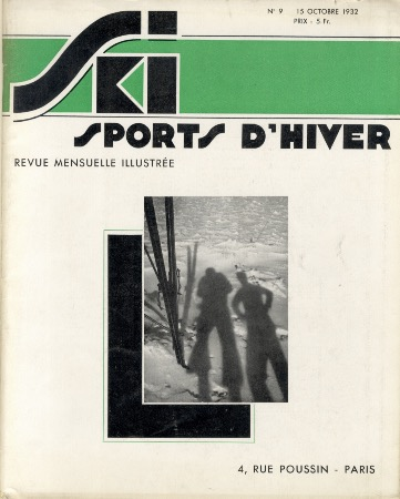 SKI SPORTS D'HIVER n° 9, oct. 1932 - revue ancienne