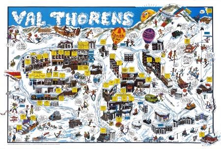 VAL THORENS - poster humoristique par André Bibeur Lu (1987)