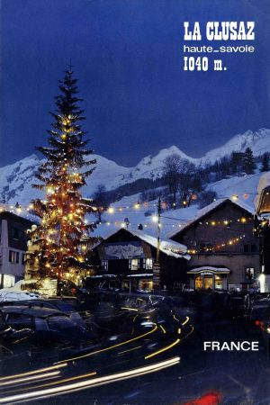 la clusaz haute savoie 1040 m affiche originale photo de dorly 1966. Black Bedroom Furniture Sets. Home Design Ideas
