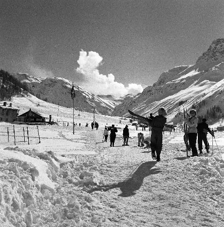 VAL D'ISERE - LE SKI ? J'ADORE CA ! - retirage photo Machatschek (1951)