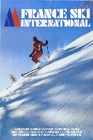 FRANCE SKI INTERNATIONAL - affiche originale photo François Garet (ca 1978)