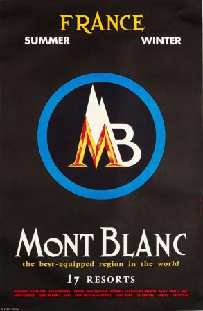 MB MONT BLANC FRANCE - THE BEST-EQUIPPED REGION IN THE WORLD - affiche par Y. Laty (ca 1960)
