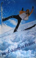 JOY OF SKIING IN FRANCE - affiche originale, photo JP Ducatez (1969)