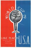 LAKE PLACID USA - WORLD CUP 1979 - affiche originale par A. Torrance