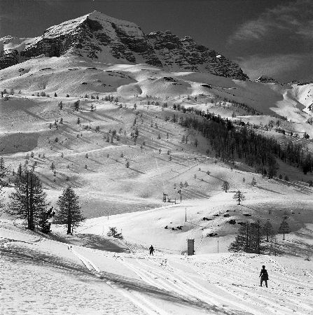 COL DE VARS - SKI INEDIT - retirage photo Machatschek (ca 1953)