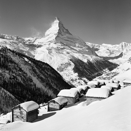 ZERMATT - FINDELN, PARADIS AUTHENTIQUE - retirage photo Machatschek (1960)