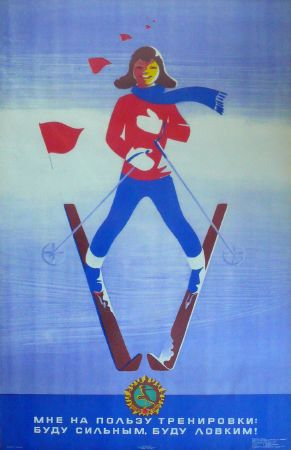 Original russian ski poster by Ostrovsky