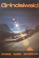 GRINDELWALD SCHWEIZ SUISSE SWITZERLAND - affiche originale photo E. Schudel (ca 1970)