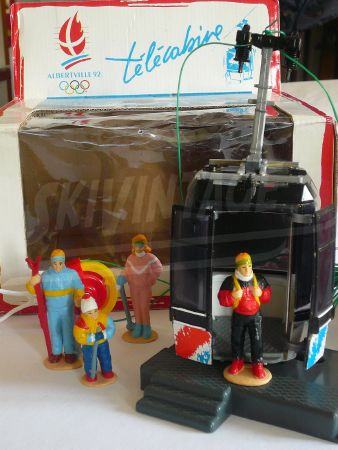 TELECABINE POMA JEUX OLYMPIQUES D'ALBERTVILLE 1992 - jouet collector