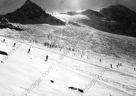 SKI D'ETE A VAL THORENS - photo originale de Karl Machatschek (1973)