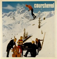 COURCHEVEL 1850 - CONCERT VIOLONCELLE ET PIANO - photo-montage original (ca 1970)