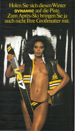 SKIS DYNAMIC VR17 - SEXY PIN UP - affiche originale (ca 1980)