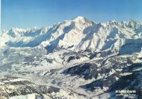 MEGEVE MONT BLANC - FRANCE - affiche panorama (ca 1980)