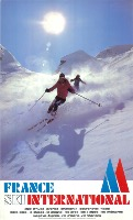 FRANCE SKI INTERNATIONAL - affiche originale François Garet (1978)