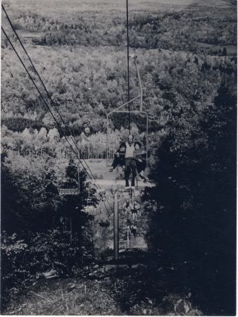 TELESIEGE BIPLACE POMAGALSKI A CAMP FORTUNE (CANADA) - photo originale (1960)