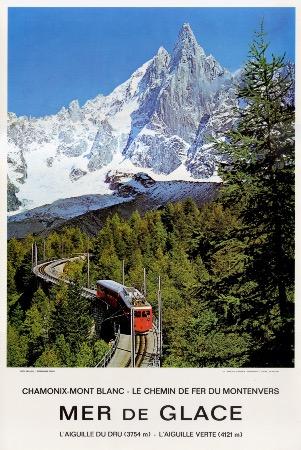 Chamonix Mont Blanc Mer De Glace Le Chemin De Fer Du