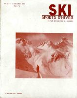 SKI SPORTS D'HIVER n° 57, oct. 1938 - revue ancienne