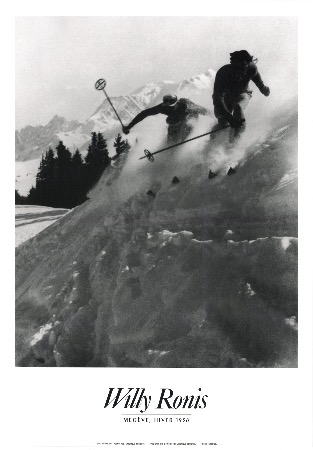 WILLY RONIS - MEGEVE, HIVER 1938 - affiche originale (1988)