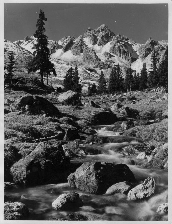 COURCHEVEL ET LA CROIX DES VERDONS - photo originale de Baetz (ca 1960)