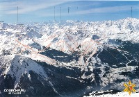 COURCHEVEL - FRANCE - affiche panorama (ca 1980)