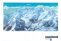 COURCHEVEL - grand poster panorama de Pierre Novat (1976)