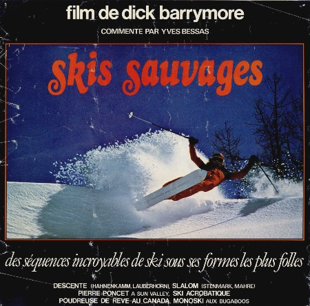 SKIS SAUVAGES, par Dick Barrymore - affiche originale du film (1978)