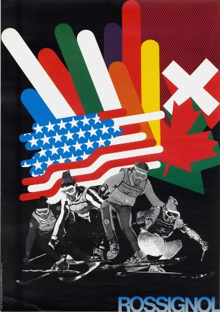 ROSSIGNOL... SKI INTERNATIONAL - affiche originale (ca 1970)