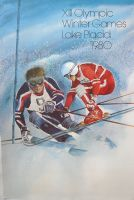 XIII OLYMPIC WINTER GAMES LAKE PLACID 1980 (SKI) - affiche originale par Whitney