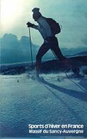 SPORTS D'HIVER EN FRANCE - MASSIF DU SANCY-AUVERGNE (SKI DE FOND) - affiche originale (1979)