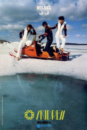 SKIDRESS CHAPARRAL FINNAIR - affiche originale (ca 1970)