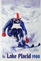 XIII OLYMPIC WINTER GAMES LAKE PLACID 1980 - affiche officielle