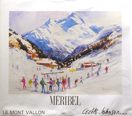 MERIBEL - LE MONT VALLON - affiche de Cecile Johnson