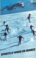 france sports d 39 hiver en dauphin ski l 39 alpe d 39 huez affiche originale par daval 1962. Black Bedroom Furniture Sets. Home Design Ideas
