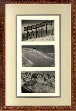 Le ski à Serre-Chevalier autrefois en cartes postales anciennes - Cadre montagne sur mesure (n° 2)